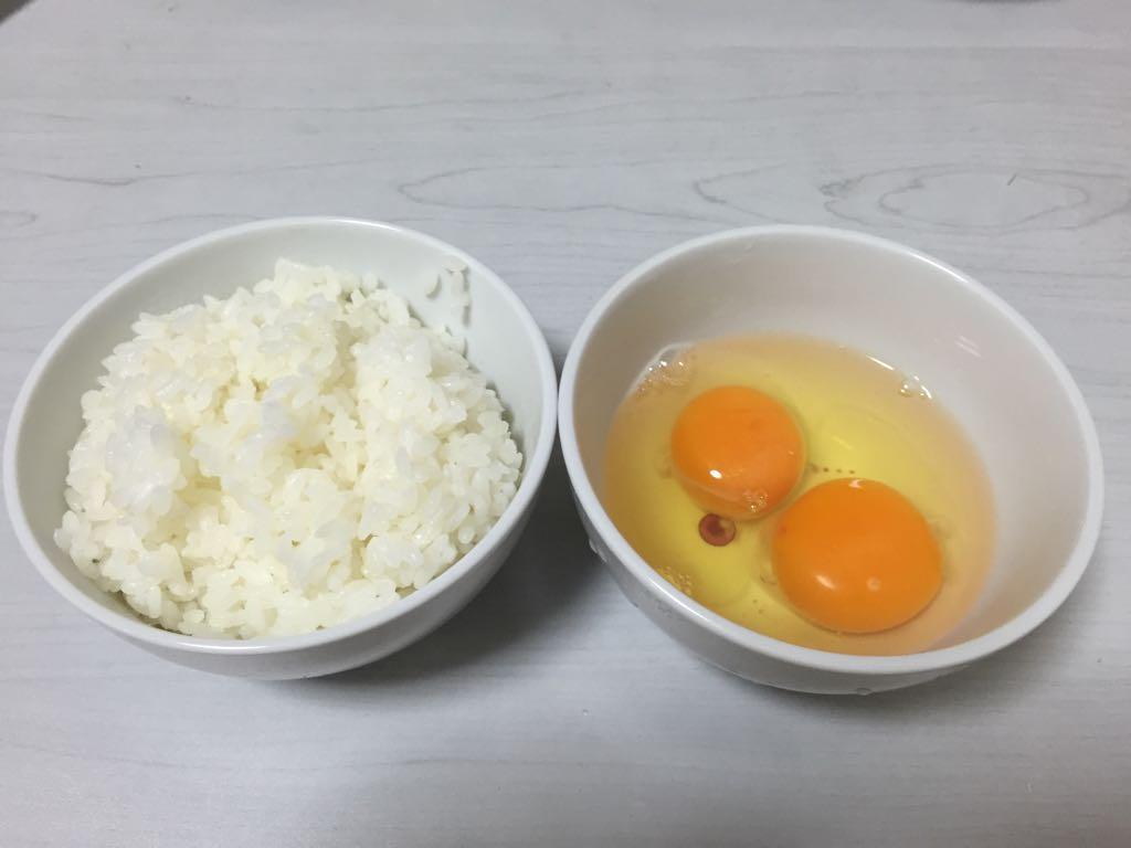 ご飯と卵 TKG