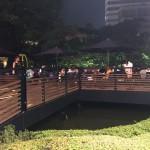 水上プレミアムビアガーデン@六本木ヒルズ・毛利庭園 池の上のビアガーデンはプレミア感たっぷりだった。