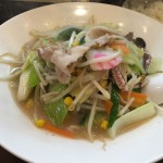 瀧武者@経堂 タンメン専門店で野菜が山盛りのタンメンをいただく