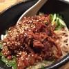 蒼龍唐玉堂@六本木 肉ぶっかけ汁なし担々麺をいただく。絶妙なしびれと辛さがたまらない!