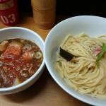 つけ麺 千兵衛@経堂 納豆がたっぷり入った納豆つけ麺をいただく。納豆好きにはたまらない1杯