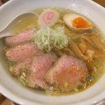 中華そば 五え門@武蔵小金井 金色に輝く鴨だしスープの鴨チャーシュー麺をいただく
