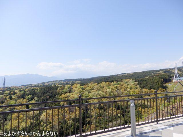 三島スカイウォークからみえる風景 富士山方面