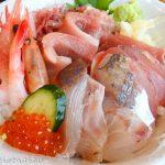 くま吉@河岸の市(清水) 「本日の海鮮丼」を実食!新鮮な魚がたっぷりのった贅沢丼!