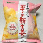 「ポテトチップス 岩下の新生姜味」を実食!これ寿司屋のガリだ!お酒のつまみにピッタリ!