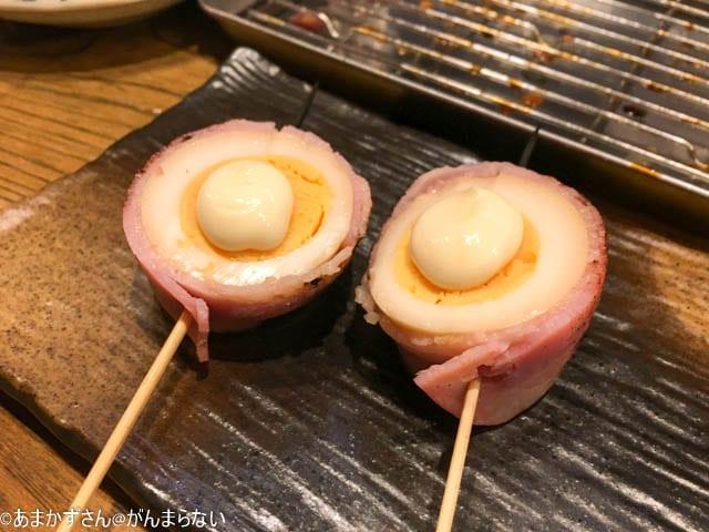 武蔵小金井「にしだ場」のベーコンエッグ