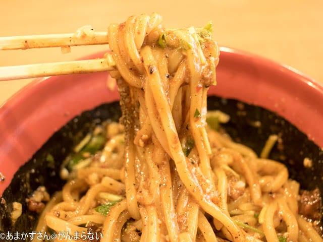 くら寿司新中華メニュー「汁なし担々麺」の麺