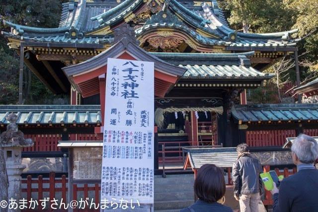 静岡浅間神社にある八千戈神社