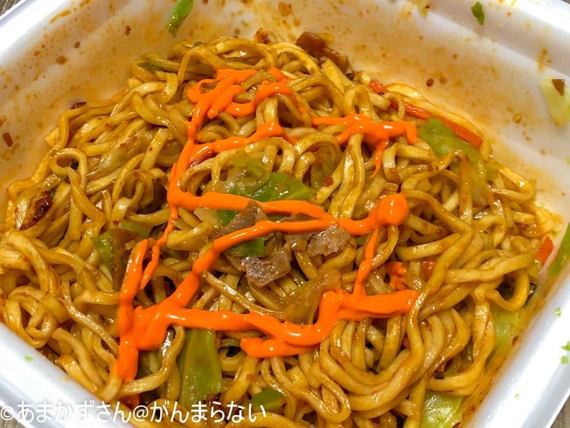 おすすめ「激辛カップ麺」の「蒙古タンメン中本 旨辛やきそば」