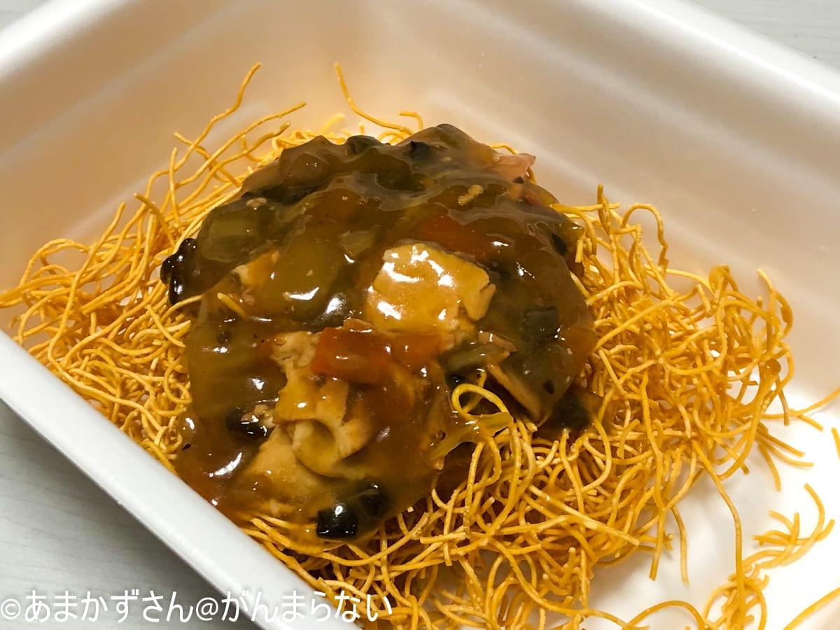 中華風そのまま皿うどんの完成