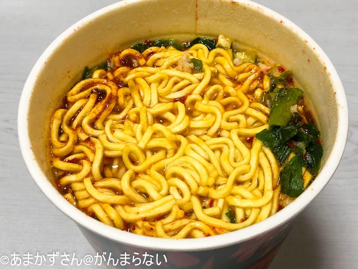 「来来亭 旨辛麺 辛さMAX」の完成