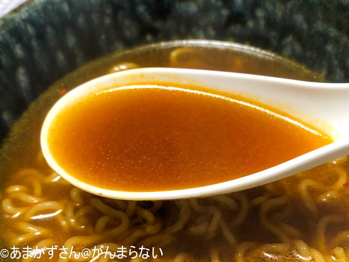寿がきや「5食入台湾ラーメン」のスープ