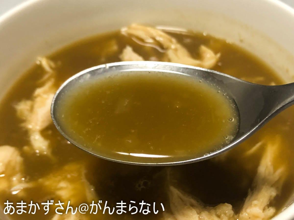 「サラダチキンを加えて作る、濃厚煮干しスープ」のスープ
