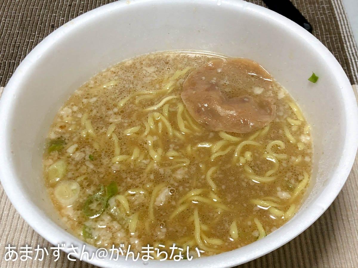 マルちゃん正麺 カップ 濃ニボの完成