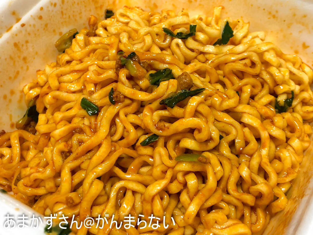 175°DENO汁なし担担麺の完成
