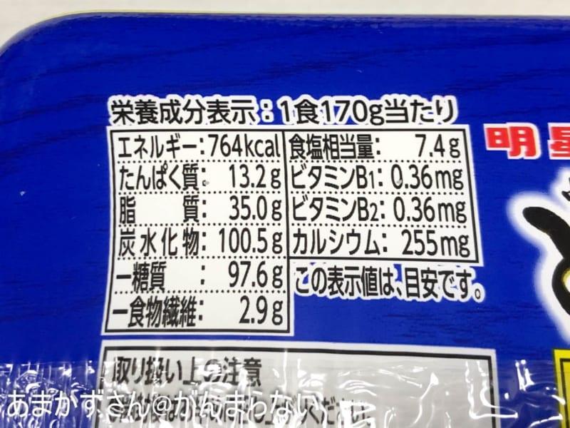 中華蕎麦とみ田監修 豚まぜそばの成分表示